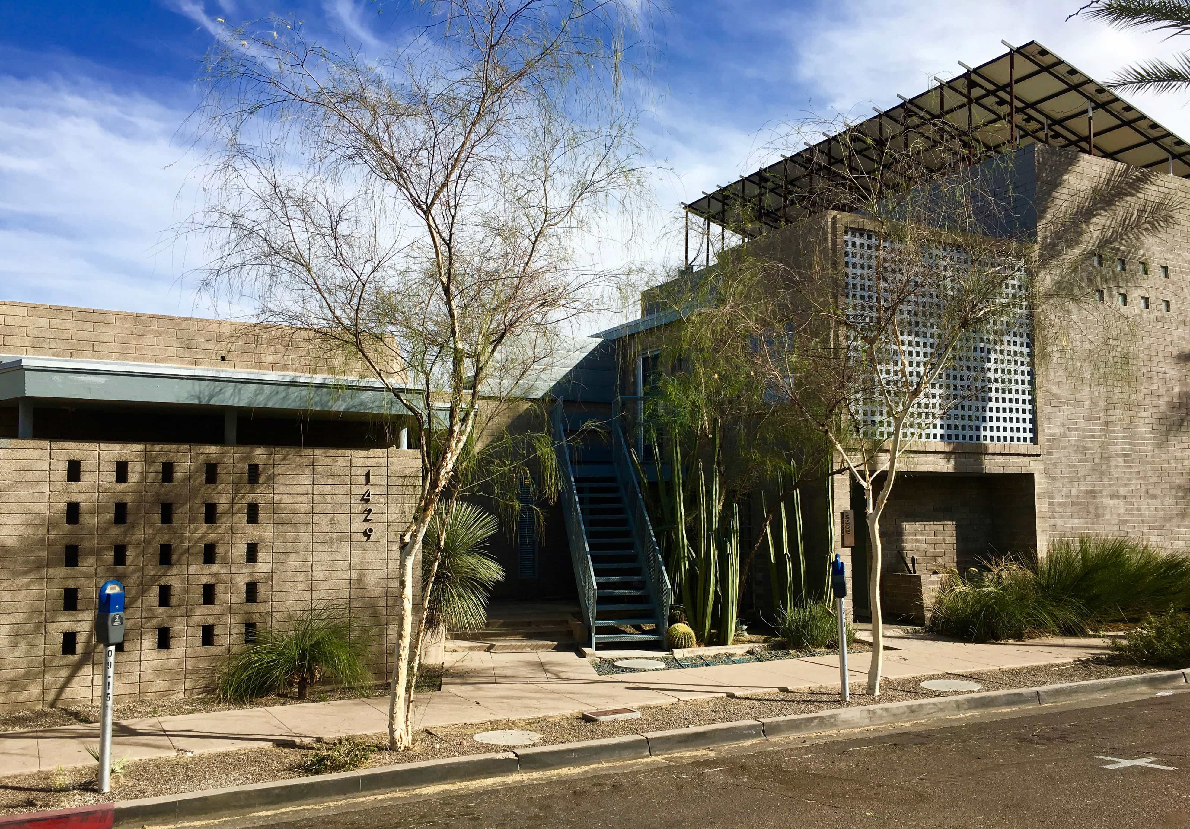 Exterior photo of new studio location for phD, a top graphic design firm in Arizona
