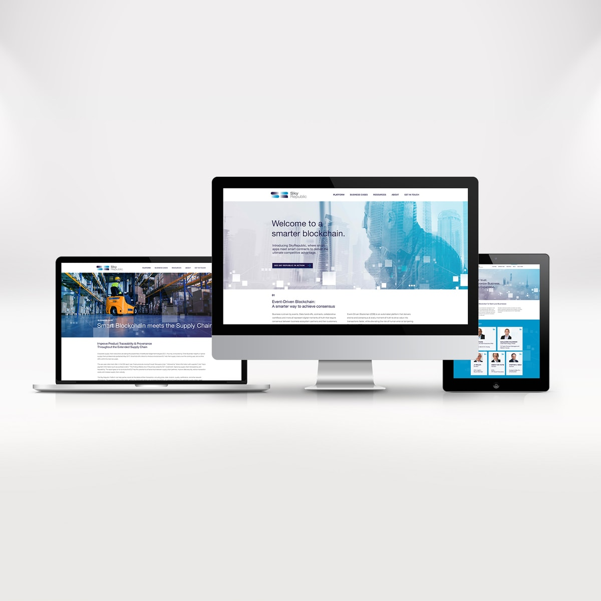 Startup branding - Sky Republic - Responsive website design