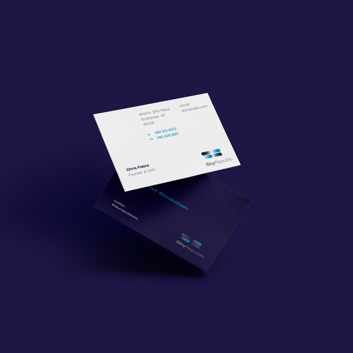 Startup branding element for Sky Republic - Business Card