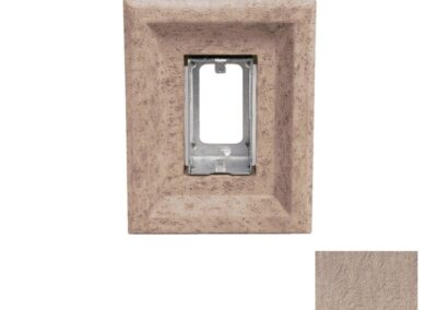 Single Receptacle Taupe