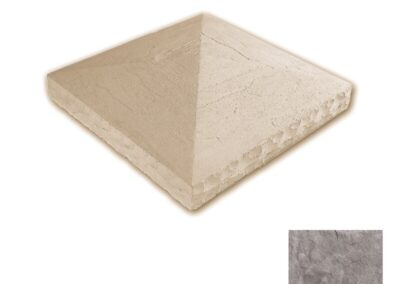 Textured Column Cap Taupe