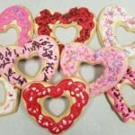 Valentine heart donuts