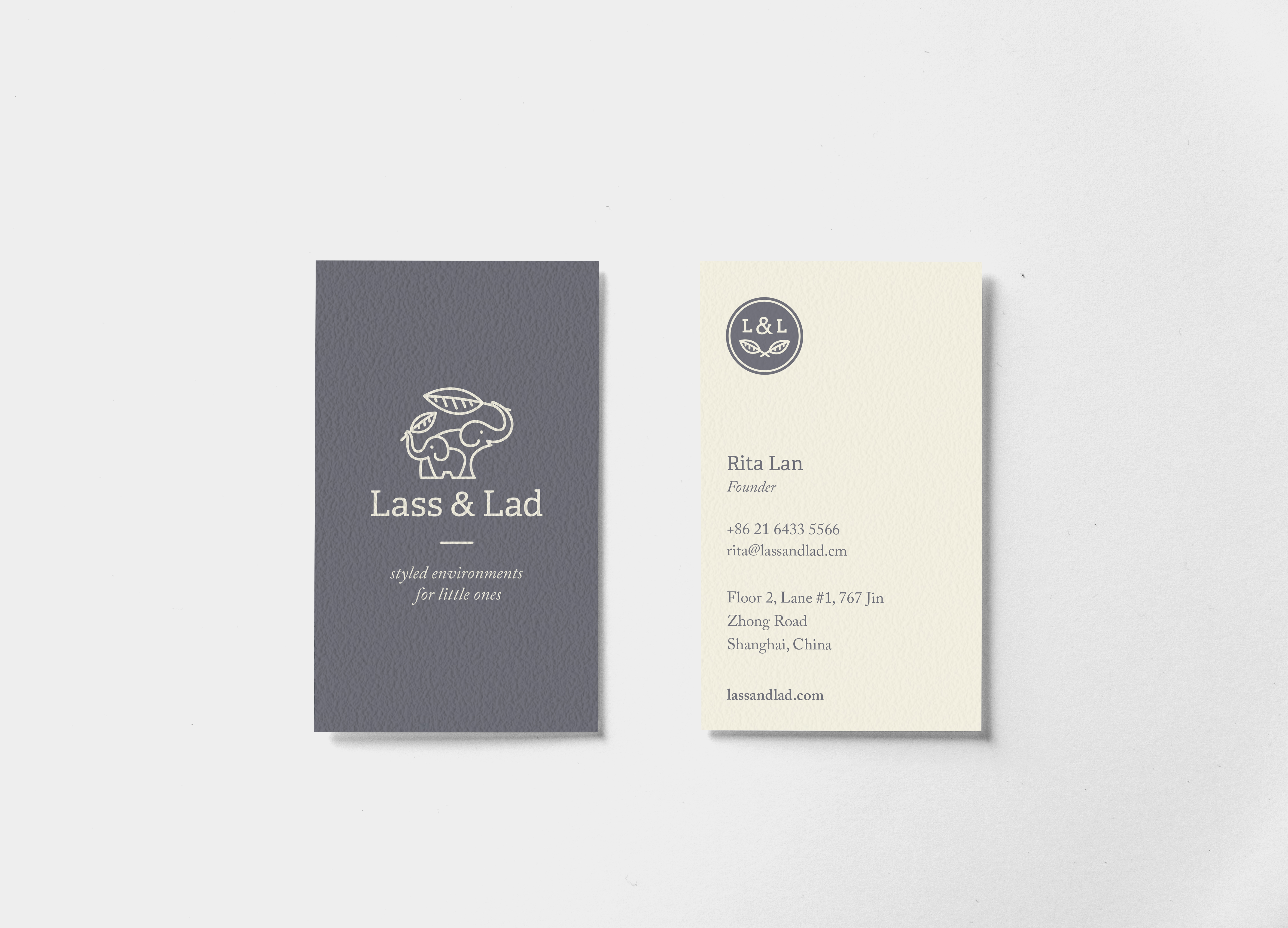 Lass & Lad Business Card
