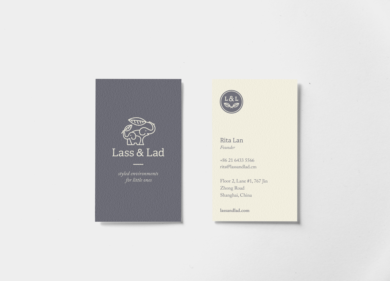Lass & Lad Business Card