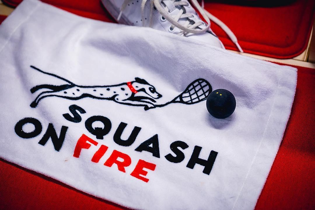 squash towel and ball
