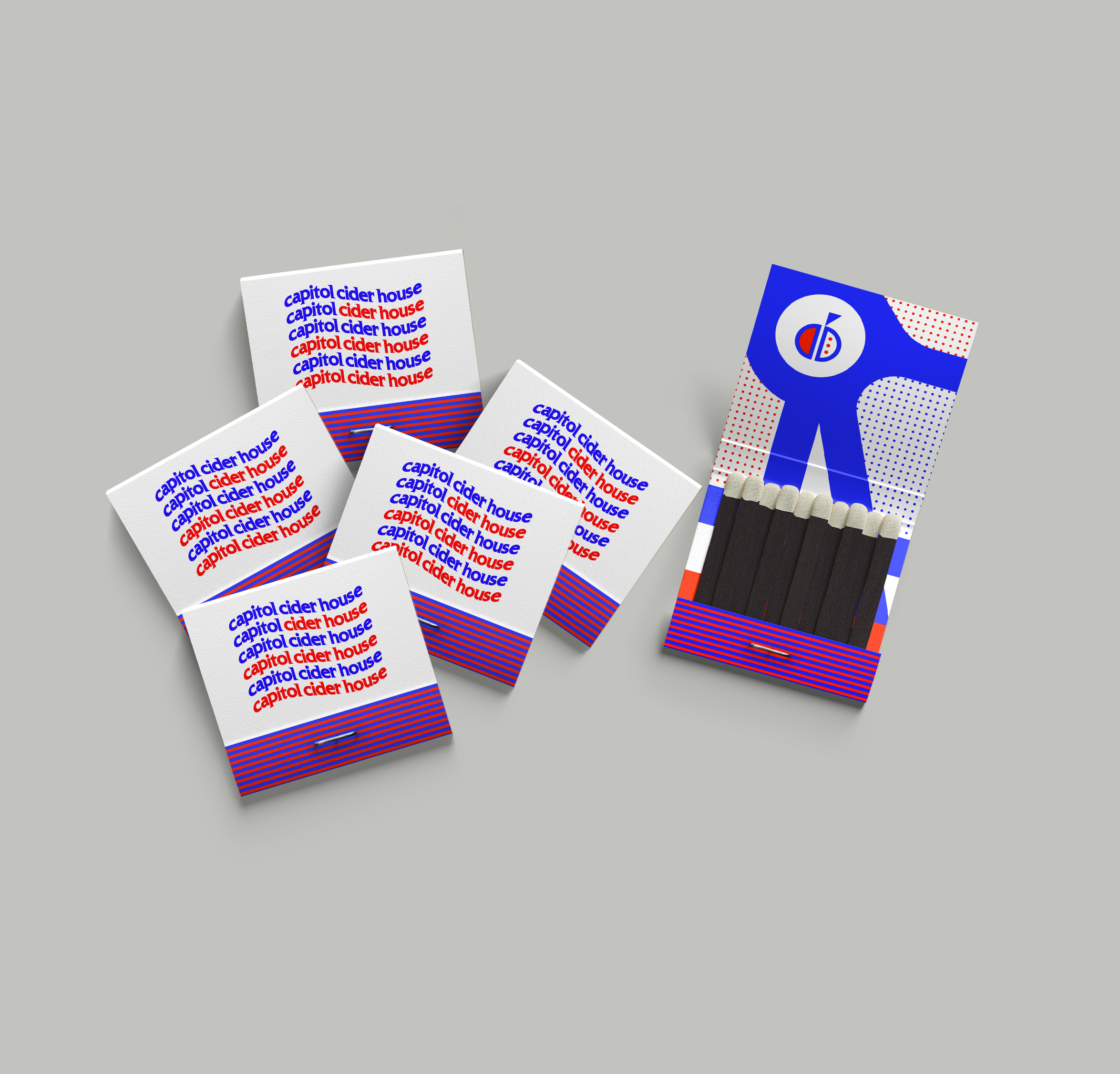 matchbooks designed with american flag