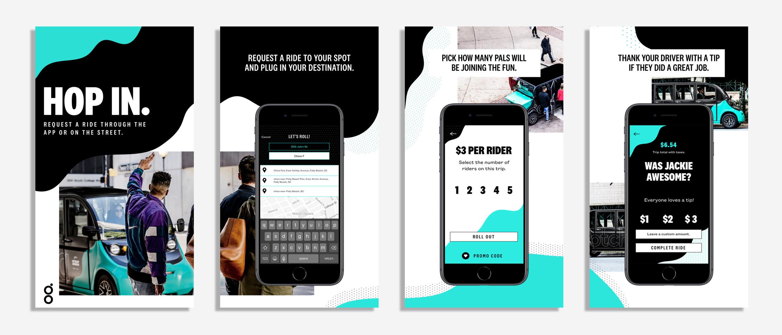 Gotcha's ride app store preview image