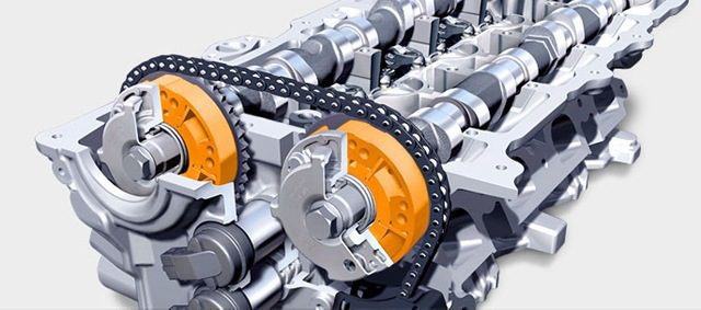 (VVT) Variable Valve Timing - Improves Low And High Speed Torque