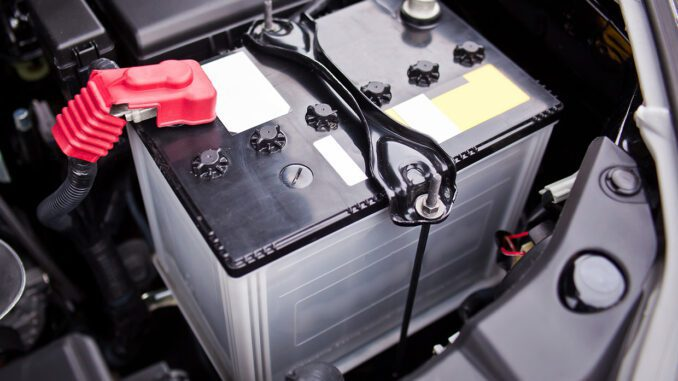 Battery - Provides The Power To Run The Starter, Lights, Accessories