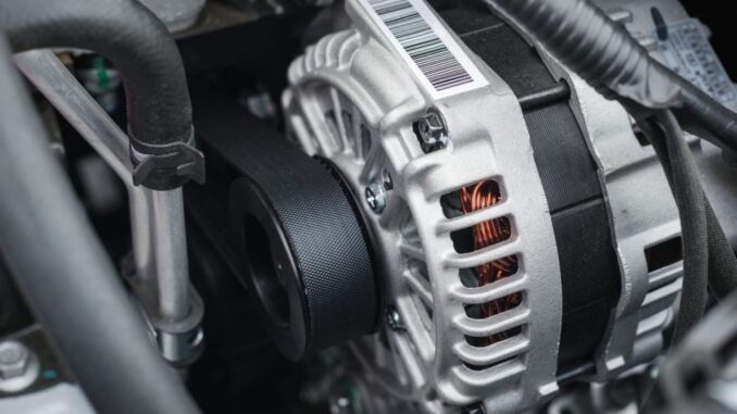 Car Alternator - Feeds The Electrical System Once The Engine Starts