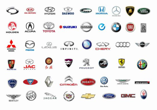 Image Of Various Car Manufacturer Logos