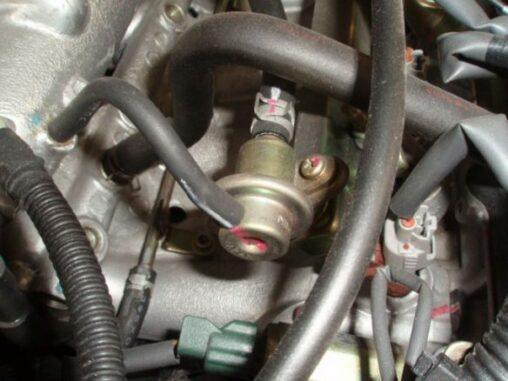 Fuel Pressure Regulator Located On Engine