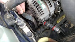Worn Alternator Belt