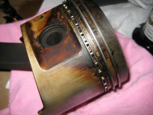 Worn Piston Rings On Piston