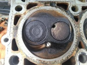 Burnt Exhaust Valve In Cylinder Head