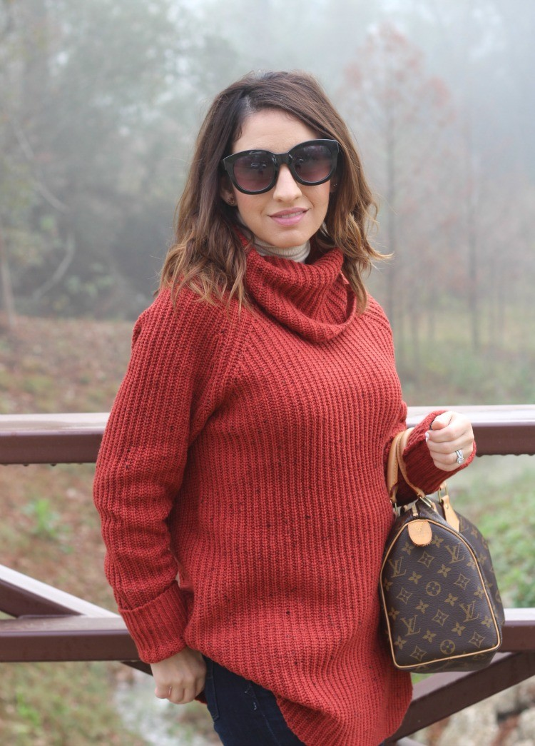 Sunnies, and cowlneck sweater