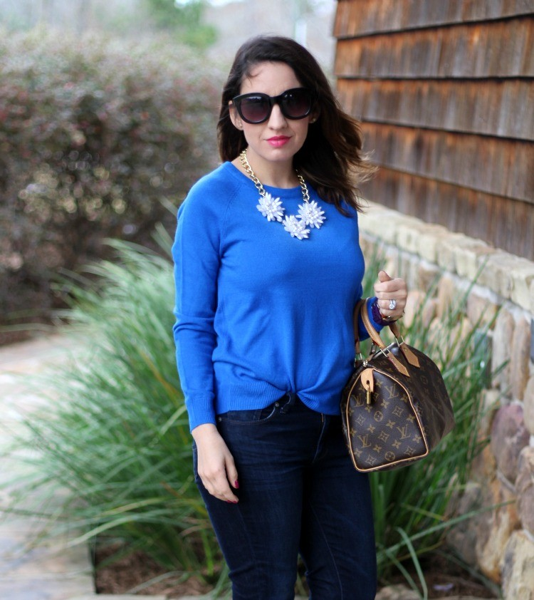 Francesca's white and gold statement necklace