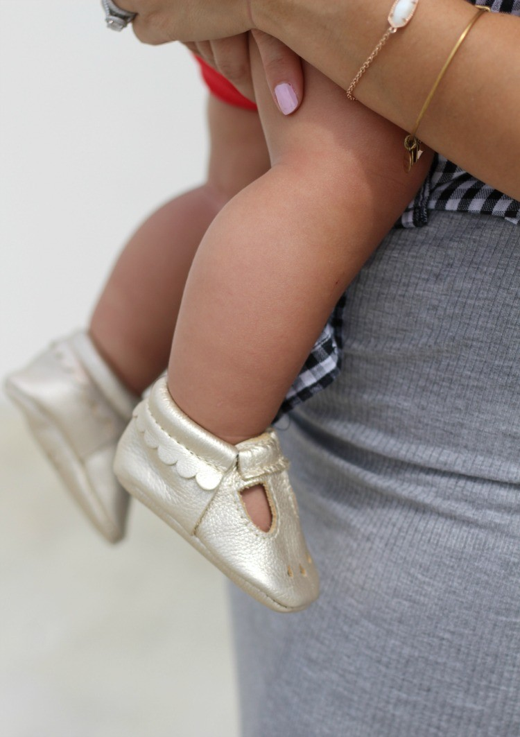 Freshly Picked Mary Jane Mocs. Pretty In Her Pearls, Mom Blogger