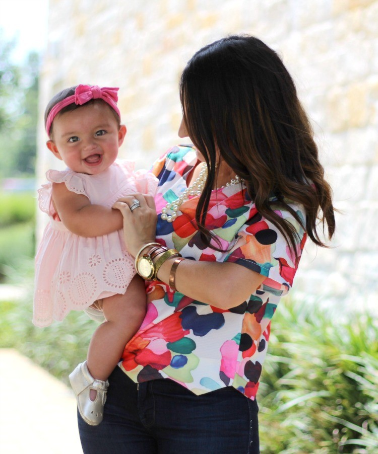Baby Sofia's first pair of Freshly Picked Mary Jane Mocs, Her 6 month update, and why I'm not worried, Pretty In Her Pearls, Style Blogger