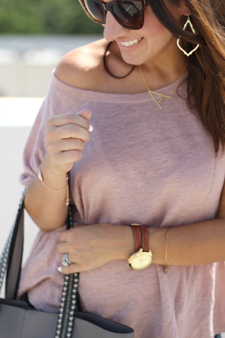 The Perfect Madewell Blush top, Pretty In Her Pearls, Style Blogger, Petite Style Blogger