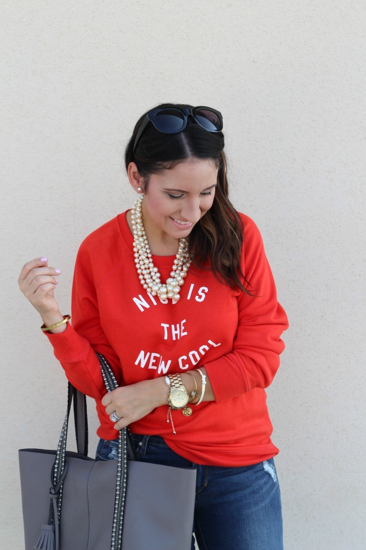 Casual Outfit for the movies, or brunch, Pretty In Her Pearls, Houston Blogger