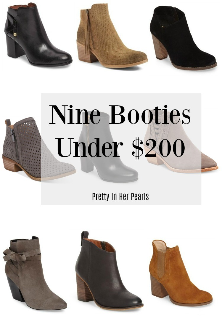 Nine Booties Under $200, Pretty In Her Pearls, Style Blogger,