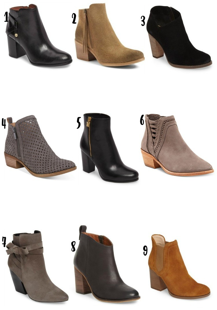 Nine Booties Under $200, Pretty In Her Pearls, Style Blogger