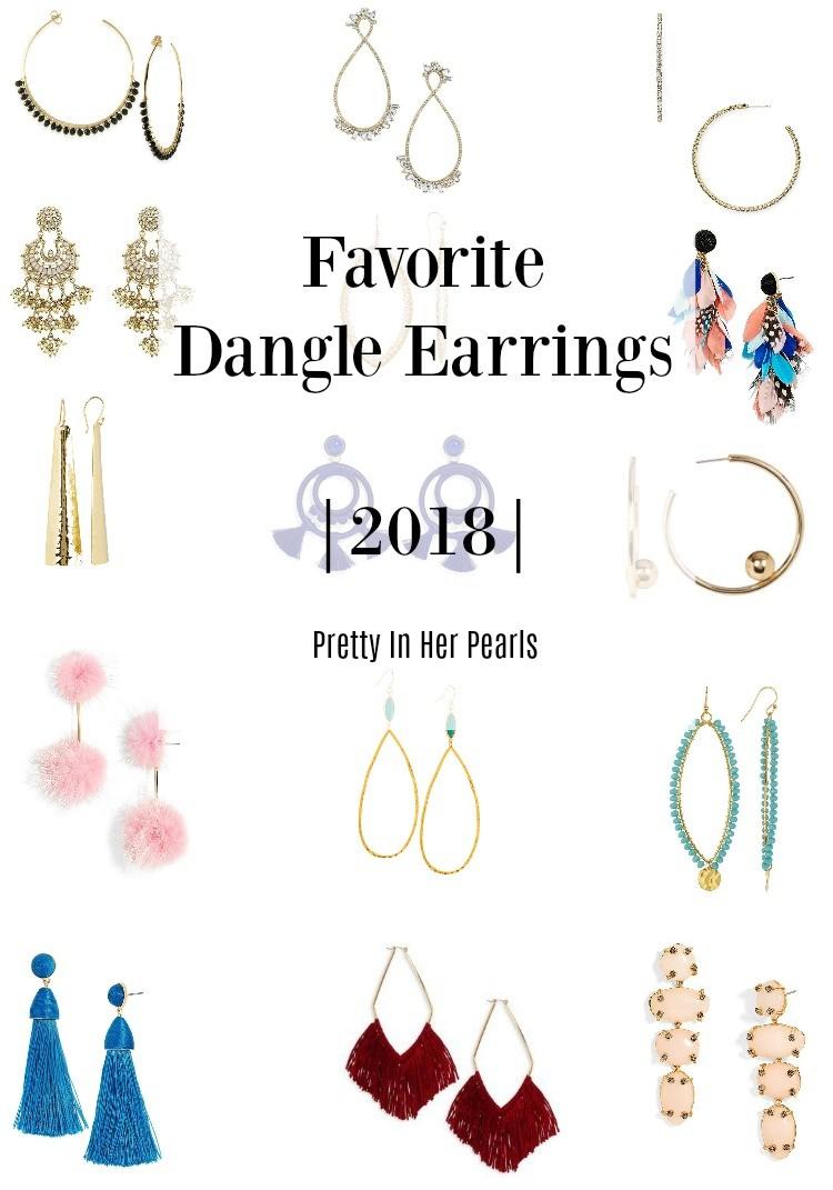 Favorite Dangle Earrings 2018, Pretty In Her Pearls, Houston Blogger, Earrings, Dangle Earrings