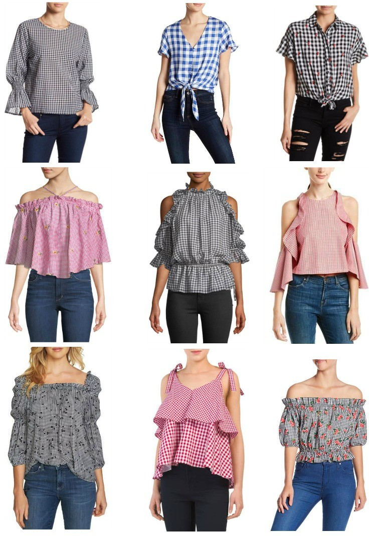 Gingham Tops 2018, Gingham Tops, Cute Gingham Tops, Pretty In Her Pearls
