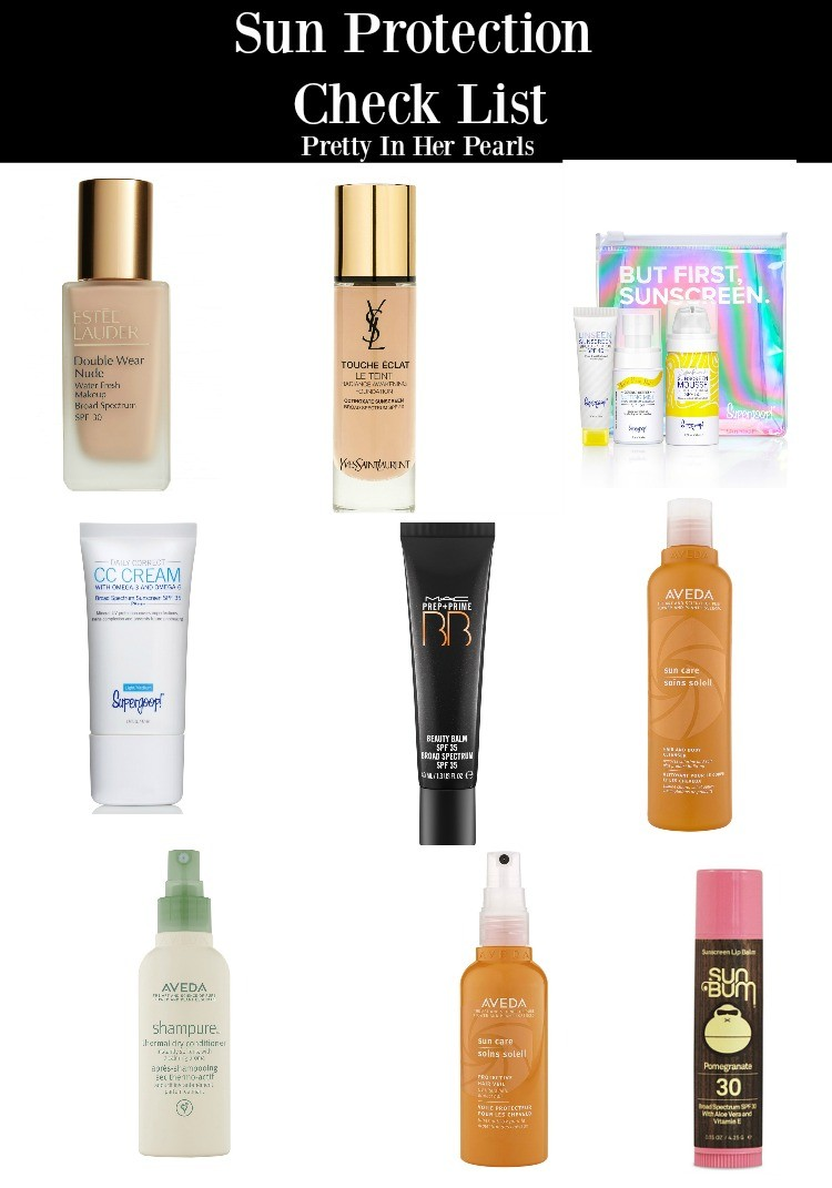 Sun Protection Check List, Pretty In Her Pearls, Sun Protection, Pool Must Haves