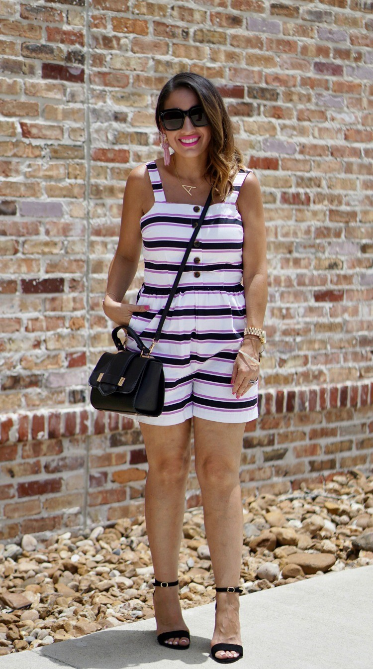 Who What Wear Stripe Romper