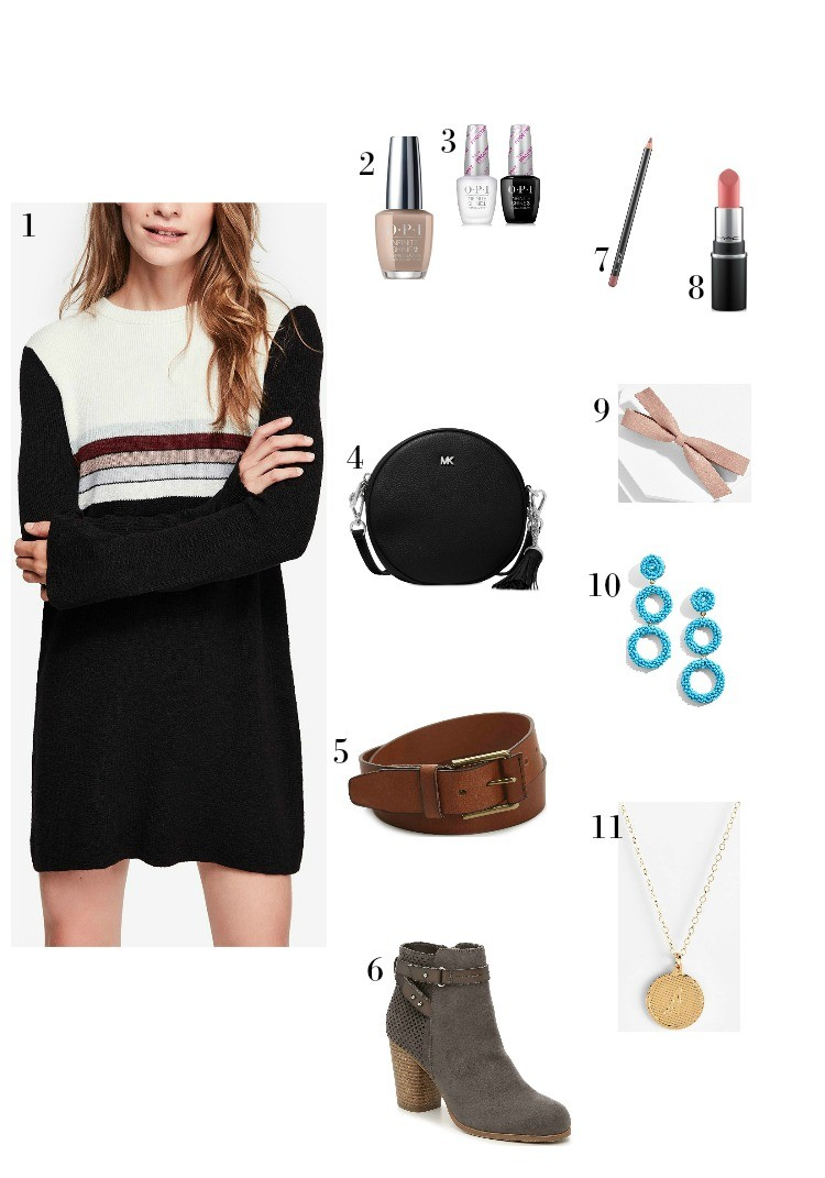 Bell Sleeve Sweater Dress and How to wear it for fall