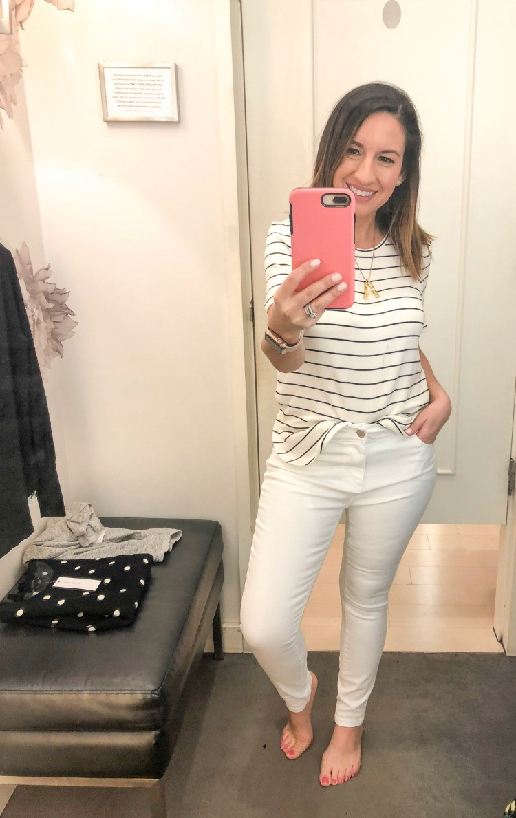 Ann Taylor Spring Fashion Try-on Session