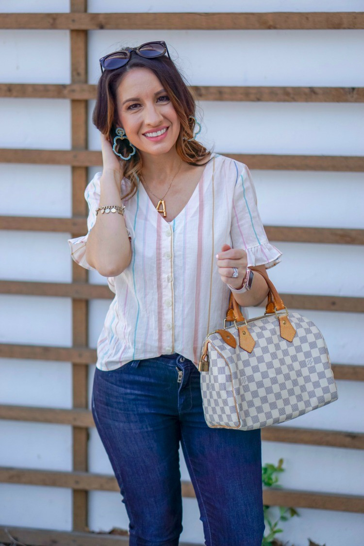 Everyday Outfit with Statement Earrings