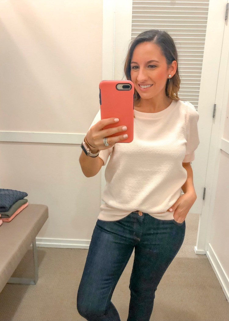 Loft Try-On Session Light Pink Top