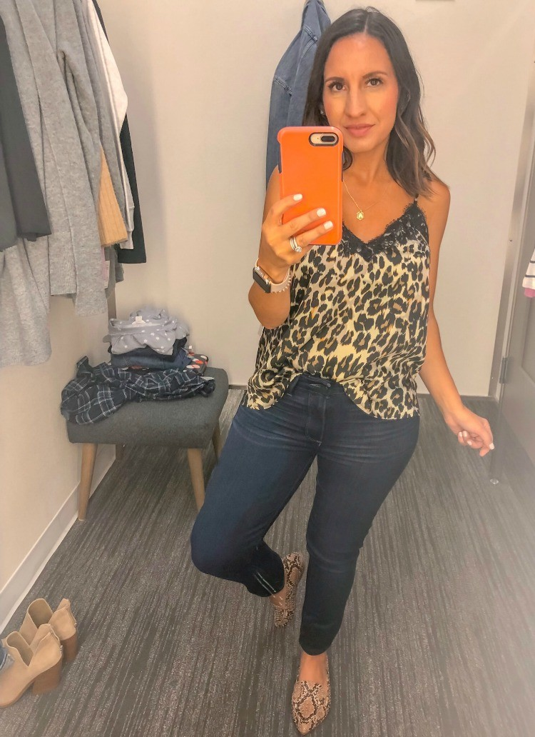 Great Basic Cami and Dark Jeans