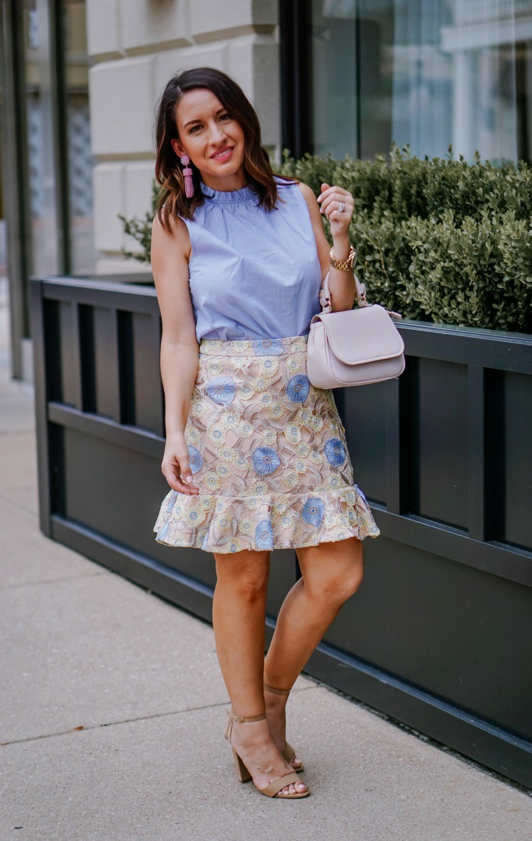 The prettiest girly floral skirt