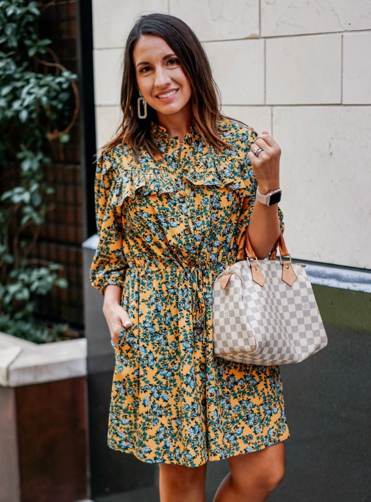 Cute Floral Dress for the fall