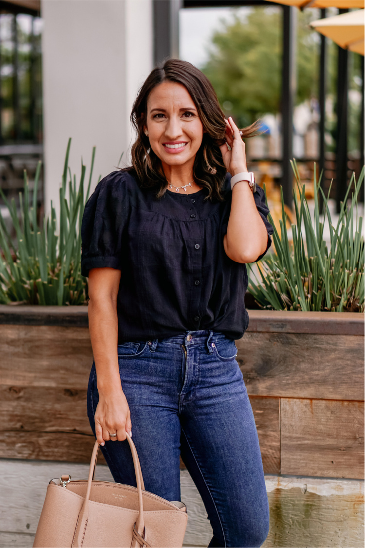 Madewell Blouse and Jeans
