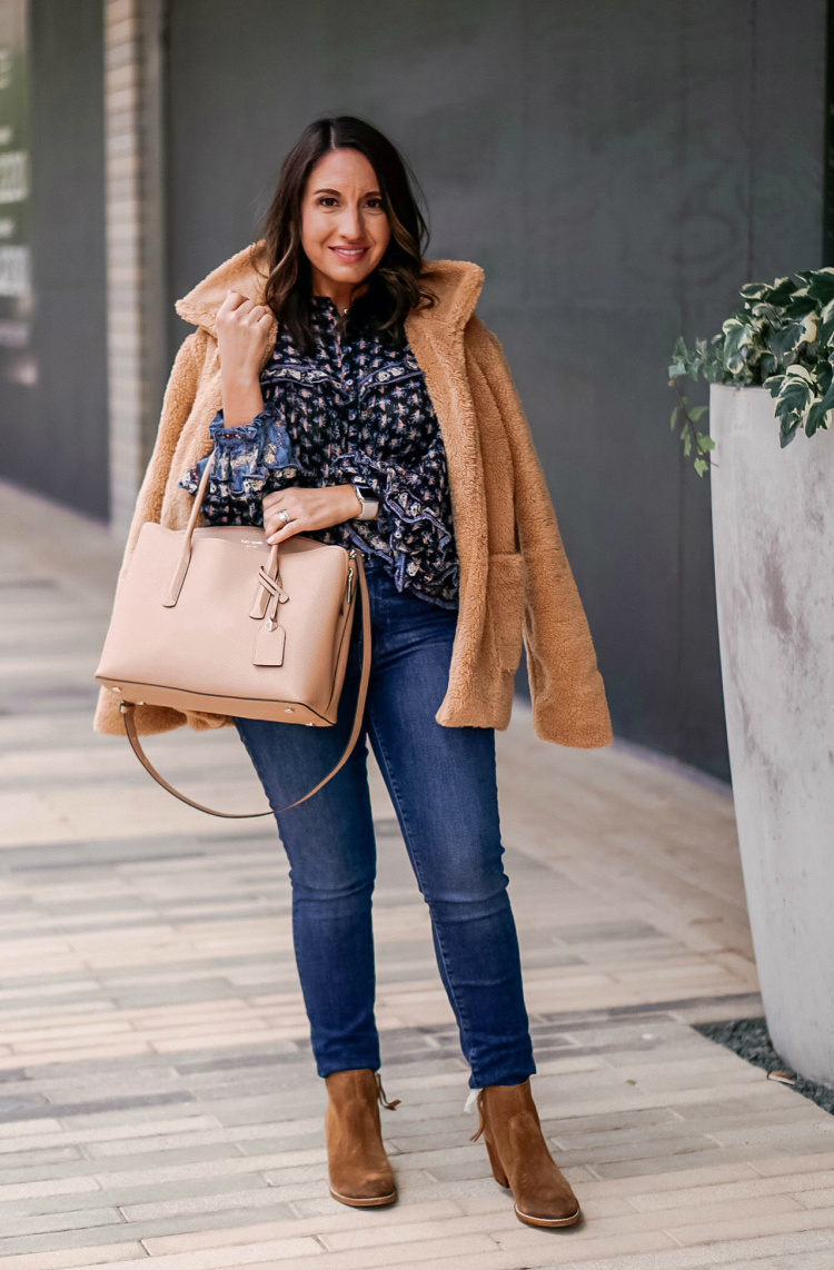 MudPie Teddy Bear Coat and Fall Outfit