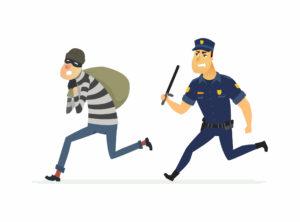 fleeing police