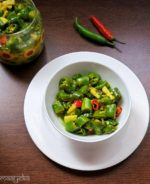 Instant Green Chili Pickle in Lemon Juice , Nimbu Hari Mirch ka Achar