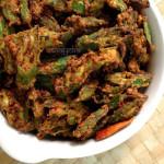 Bhindi Kurkuri Recipe , How To Make Kurkuri Bhindi ,Crispy Okra