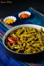 Guvar Phali ki Sabzi Recipe , How To Make Guvar Phali Ki Sabzi, Cluster Bean Stir Fry