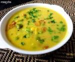 Aloo Matar Mangodi Kadhi Recipe