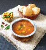 Poori Bhaji Recipe ,Raswala Bateta nu Shaak , Potatoes in spicy vegetarian broth