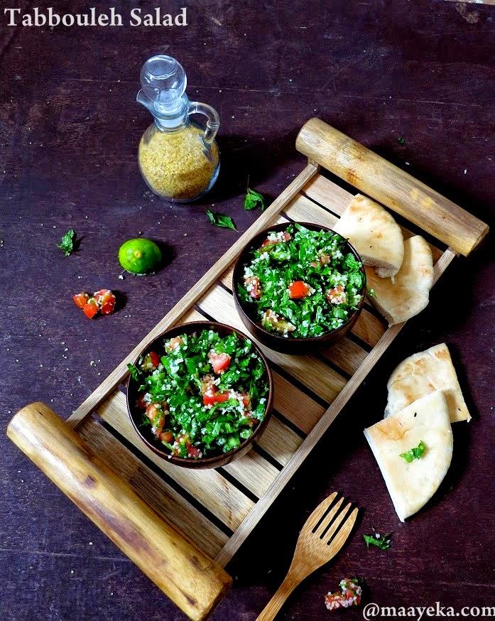 Lebanese fresh tabbouleh salad