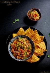 Roasted tomato bell pepper salsa