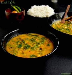 how to make palak daal
