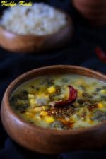 Kulfa Ki Kadhi , Purslane and Bengal Gram Curry